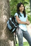 Teen girl ready for school Royalty Free Stock Image