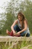 Teen Girl In Reflective Mood Stock Image