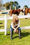 Teen Girl Relaxing Stock Image