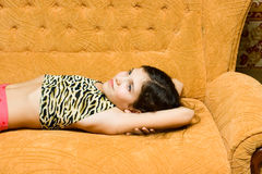 Teen girl rest Stock Image