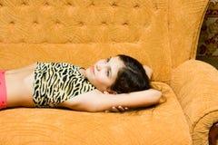 Teen girl rest Stock Image