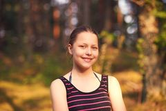 Teen girl rest on the nature Royalty Free Stock Images