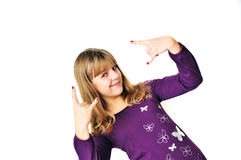 Teen girl rock out Stock Image