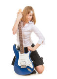 Teen Girl Rockstar Stock Photography