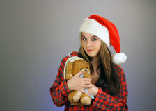 Teen Girl Santa's Helper (5) Royalty Free Stock Photos