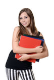 Teen girl with school binders Stock Photography