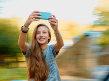 Teen girl selfie Stock Images