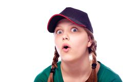 Teen girl shocked Stock Images
