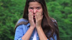 Teen Girl Shocked Surprised Offended And Alarmed stock video