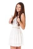 Teen girl showing thumbs Royalty Free Stock Photo
