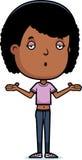 Teen Girl Shrug. A cartoon illustration of a teenage girl shrugging Royalty Free Stock Photo