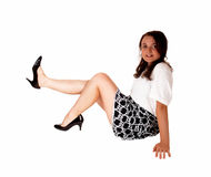 Teen Girl Sitting On Floor. Royalty Free Stock Photos