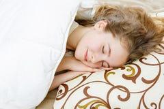 Teen girl sleeping Royalty Free Stock Image