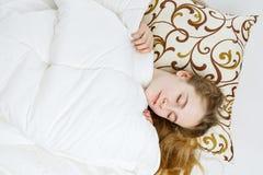 Teen girl sleeping Stock Photos