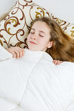 Teen girl sleeping Royalty Free Stock Photos