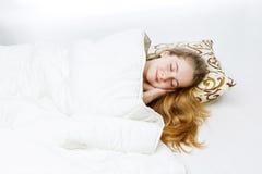 Teen girl sleeping Stock Photography