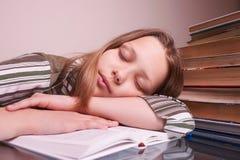 Teen girl sleeping royalty free stock photos
