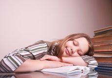 Teen girl sleeping Royalty Free Stock Photography