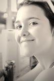 Teen girl smile royalty free stock photos
