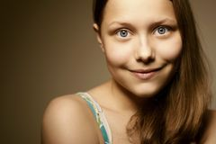 Teen girl smiling Stock Photography