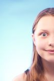 Teen girl smiling Royalty Free Stock Image