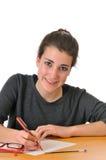 Teen girl student Stock Image