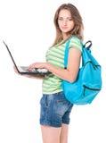 Teen girl student Stock Photos