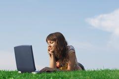 Teen girl study Royalty Free Stock Photography