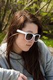 Teen girl in sunglasses Stock Image