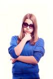 Teen girl in sunglasses Stock Photos