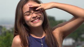 Teen Girl On Sunny Day During Summer stock video footage