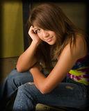 teen girl with suttle smile Royalty Free Stock Photo
