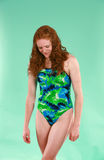 Teen girl in swimsuit Stock Photo
