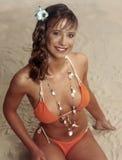 Teen girl in swimsuit Stock Photo