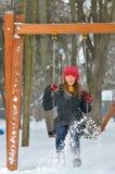 Teen girl swing Stock Image