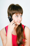 Teen girl talking on a cell phone Stock Image