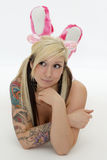 Teen girl with tattoo Royalty Free Stock Photography
