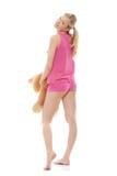 Teen girl with teddy bear Royalty Free Stock Photos
