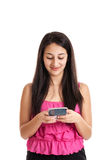 Teen girl texting Stock Photos