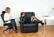 Teen girl on therapy Stock Image