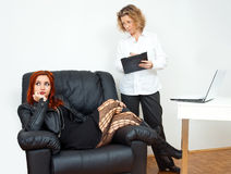 Teen girl on therapy Stock Images