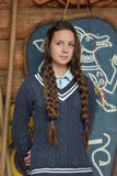 Teen girl with two plaits Royalty Free Stock Photography