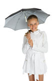 Teen girl with umbrella Stock Photography