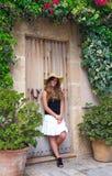 Teen girl vacation outdoor portrait Stock Photo