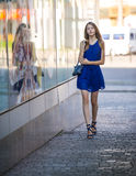 Teen girl walking Royalty Free Stock Photo