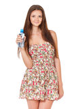 Teen girl with water Royalty Free Stock Photos