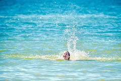 Teen girl in water Stock Photography