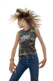 Teen girl waving her hair Royalty Free Stock Images