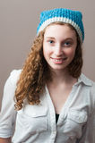 Teen girl wearing a toque Royalty Free Stock Photography
