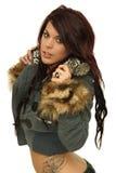 Teen girl wearing winter coat Royalty Free Stock Image